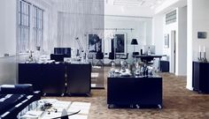 Erik Bagger Showroom and Office designed by Tine Mouritsen - Love it, but I'd add BOLD colored pieces throughout