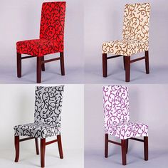 Elegant Spandex Elastic Stretch Chair Seat Cover Computer Dining Room Wedding De #Unbranded