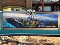 New construction wall art for Star Wars land coming to Disney's Hollywood Studios and Disneyland. #starwars #disney #hollywoodstudios #twitter #wdw #disneyworld #billboard #construction #wall