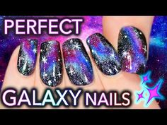 The Fault in Your Galaxy Nails | Get PERFECT DIY Galaxy Nails! - YouTube [STARTS @ 1:50!]