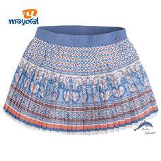Falda de niña juvenil de MAYORAL estampada plisada