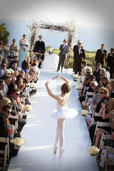 #ballerina #wedding I wouldn't walk down the aisle like this but I would love to perform a lyrical dance for my husband at our wedding