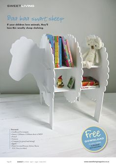 DIY Sheep bookcase from Sweet Living Magazine