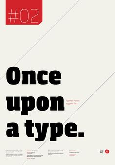 """Typographic Poster Series by Stefano Joker Lionetti - """"Once upon a type."""""""