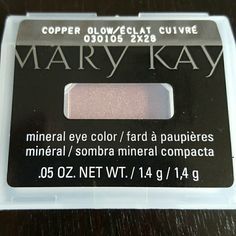 Mary Kay eye color Mary Kay mineral eye color in copper glow Makeup Eyeshadow