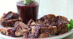 (Pork Tenderloin with) Blueberry-Bacon Barbecue Sauce   Noble Pig
