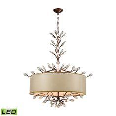 Asbury 6 Light LED Chandelier In Spanish Bronze 16293/6-LED