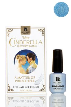 """LED Gel Polish - A Matter Of Prince-iple by Red Carpet Manicure  Details: You don't have to have a perfect manicure to meet his royal highness...it's just a matter of prince-iple. Paint your fingertips and toes with this sweet, iridescent blue and stay true to your heart no matter what the night brings. - Size: 0.30 fl. oz. - Color: A Matter of Prince-iple (iridescent blue) - For directions and ingredients, see """"Additional Info"""" - Made in USA $10.00"""