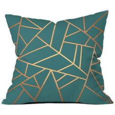 Looking to set the tone in your home sweet home ? The fastest (and coziest) way to get there is with a bold throw pillow. The Copper & Teal Throw Pillow will ad...