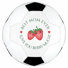 Best Mom Ever Mother's Day Love You Berry Much Soccer Ball - tap/click to personalize and buy #SoccerBall #best #mom #ever, #mothers #day, Soccer Gear, Soccer Ball, Old Fashioned Games, Teapot Design, Family Fun Night, Pool Toys, Kawaii, Funny Puns, Have Some Fun