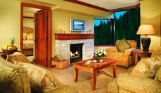 The Resort at Squaw Creek: Fireplace Suites come with a living room and impressive views of the valley. Rates from $130/night. Email info@sodynamite.com to book this deal!
