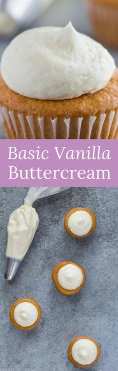 This Basic Vanilla Buttercream Frosting recipe is so versatile, you can use it for just about any dessert. via @introvertbaker
