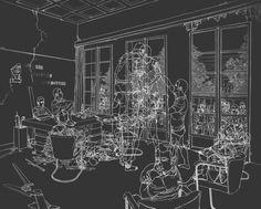 ILLUSTRATION : Imaginez mourir. Qu'est-ce qui se passe après la mort? A quoi ressemblerait votre environnement? Il y a des idées et des croyances de l '«après-vie» infinies. Illustrations sombres, étranges et fantomatiques par Moisés Mahiques qui ''kickstart'' notre imagination de ce que serait notre purgatoire.