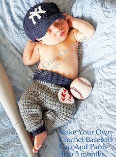 Love Omg look how cute! This will be my son.Newborn NY Yankees baby cap and. Baby , Omg look how cute! This will be my son.Newborn NY Yankees baby cap and. Omg look how cute! This will be my son. Pattern Baby, Baby Patterns, Crochet Patterns, Pants Pattern, Crochet Bebe, Crochet For Boys, Crochet Hats, Yankees Baby, Ny Yankees