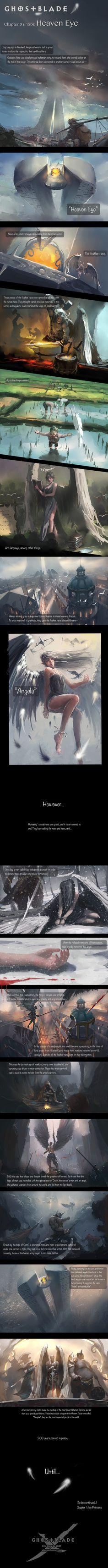 GhostBlade - Chapter 0 (Intro) : Heaven Eye by wlop.deviantart.com on @deviantART