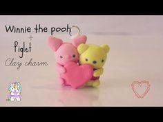 Kawaii Pooh & Piglet polymer clay charm tutorial ♥