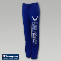 Air Force Women`s Fleece Sweatpants Air Force Love, Air Force Girlfriend, Champion Authentic Athletic Apparel, Fight Wear, Airforce Wife, Military Wife, Outerwear Women, Women's Bottoms, Active Wear For Women