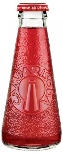 Campari Soda. Along with the Coca Cola bottle, arguably the most iconic bottle design of all time - and perfectly measured for 1 full serving.