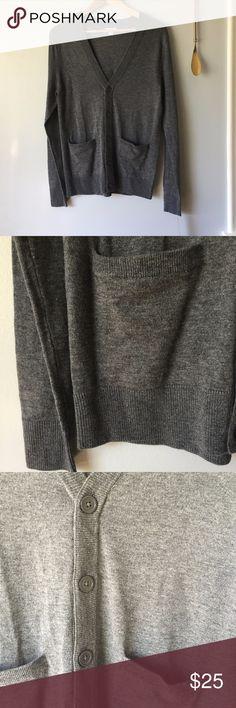 Light Gray Boyfriend Cardigan Light gray boyfriend cardigan//Materials: 50% wool, 50% acrylic Sweaters Cardigans
