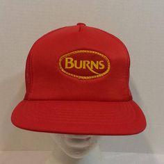 Burns Meats Vintage Baseball Truckers Dad Hat Cap Snapback Meat c8299749ac93