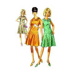 1960s Drop Waist Dress Simplicity 6985 Vintage Sewing Pattern