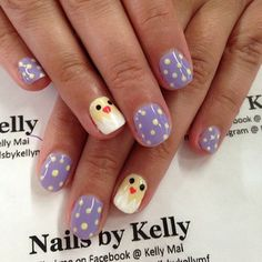 easter nails #spring #chicks