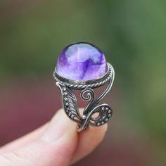 Amethyst Jewelry Amethyst Ring Amethyst Earrings Filigree