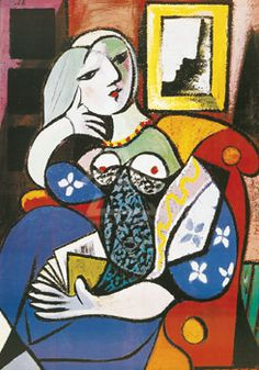 Woman with book. Pablo Picasso.