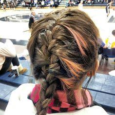 Braid. Cool colors. Basketball. Sports hair