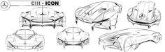 C111 Mercedes Thesis - in Progress by Philipp Haban, via Behance