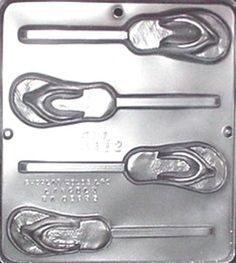 Flip Flop Lollipop Chocolate Candy Mold by CandyMoldsNMore on Etsy, $2.40