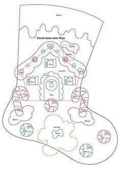 Christmas cottage stocking pattern