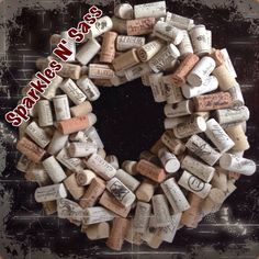 Natural Cork Wreath by TheSparklesNSassShop on Etsy https://www.etsy.com/listing/233078146/natural-cork-wreath