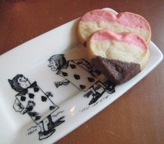 Neapolitan heart cookies for Valentines Day
