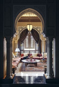 "My kind of entrance! Beautiful Moroccan design by Mohammad Taher -"" Oriental Majlis "" Villa ""Sheikh Nawaf Al-khalifa"" - Qatar"