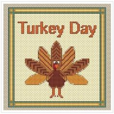 Please Share00010Stitch A Turkey For Thanksgiving. Gobble Gobble.  Thanksgiving isn't far off. Stitch this cute turkey to add to your holiday atmosphere.  It is approximately 6″x 6″when completed on 14 count Aida cloth.  The pattern is in 4 parts.  Go here to download and copy this free pattern. PHOTO CREDIT Thanks to Esther Leavitt at …