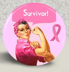 Rosie MAGNET Breast Cancer Awareness Survivor  by HappyBugDesigns, $3.50