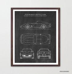 Engraved blueprint art specializes in custom drawn and laser corvette blueprint corvette poster corvette patent art 1974 corvette corvette art malvernweather Gallery