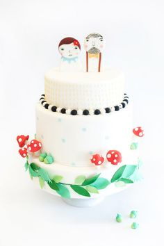 donna wilson inspired wedding cake - @Betsy Thorleifson Nine Cakes @Brklyn View Photography - Jainé Kershner