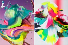 Yago Hortal acrylic paintings