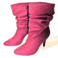 218f89abaf2 Adelay Cranberry Mid Calf Slouchy Boots US Size 7 M NIB · Slouchy  BootsCalvesWomen s ShoesWoman ...