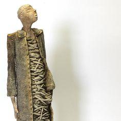 The Regard/Ceramic Sculpture/ Unique Ceramic Figurine by arekszwed on Etsy
