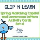 CLIP 'N LEARN Spring Themed Activity Cards Set #1
