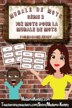 Our latest product is a refresh of one of our existing Murale de mots products. This set has been totally updated and given a really beautiful graphics facelift but still has 102 words. For more information about our latest product please click... https://www.teacherspayteachers.com/Product/102-mots-pour-la-murale-de-mots-serie-3-603335