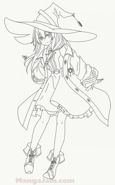 Elf Drawings, Art Drawings Sketches Simple, Witch Drawing, Pony Drawing, Manga Drawing Tutorials, Drawing Templates, Chica Anime Manga, Anime Kawaii, Anime Lineart