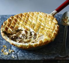 Save time on the washing up by baking a creamy chicken pie in the pan used to make the filling