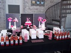 For the Love...: Hot Pink and Black Birthday Party Decor