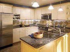 Tiny kitchen, really bright!