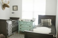 Gray Nursery Reveal - a shared boys nursery with baby and toddler