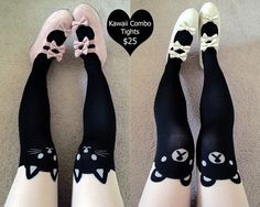 Avail our best sellers Kitty and Teddy Tights for the cheap price of 25$. Each tight originally costs 15$ so don't miss out on this super deal! Limited time offer only!  Includes: Kitty Tights Teddy Tights  Measurements: Hips: 85-98 cm Height: 150-165 cm